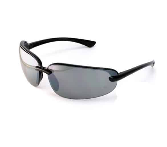 Protocol SB 6220D, safety glasses, black purl, grey glass