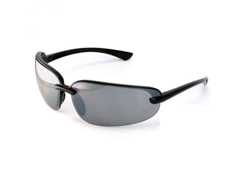 Pyramex Protocol SB 6220D, ochranné okuliare, čierna obruba, šedé sklá