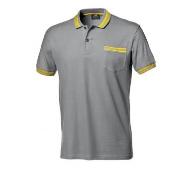 SALSA pracovní tričko s límečkem šedé