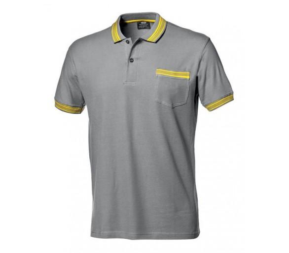 Camisa de trabajo SALSA con cuello gris.