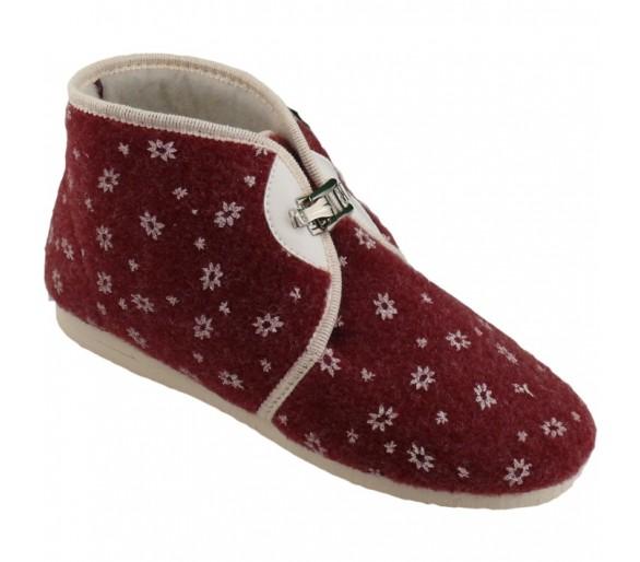 Papuče na přezku dámské
