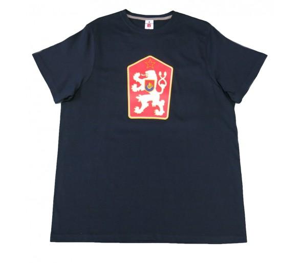 T-shirt Retro Czechoslovakia blue