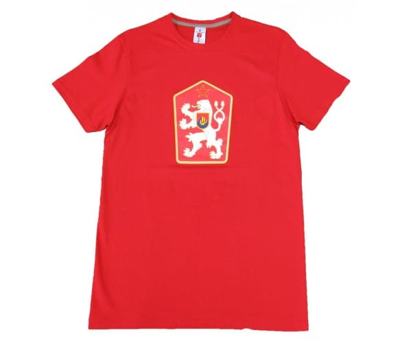 T-shirt Retro Czechoslovakia red