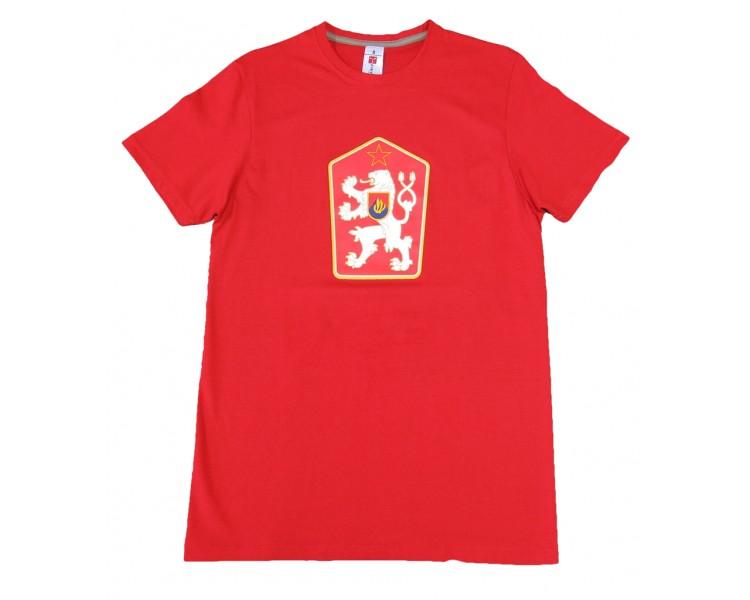 T-shirt Retro Czechoslovakia red