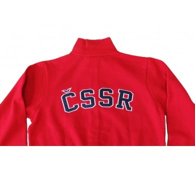 HOUSTON Retro ČSSR Sweatshirt rot
