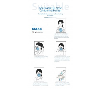 4-layer FFP2 face mask