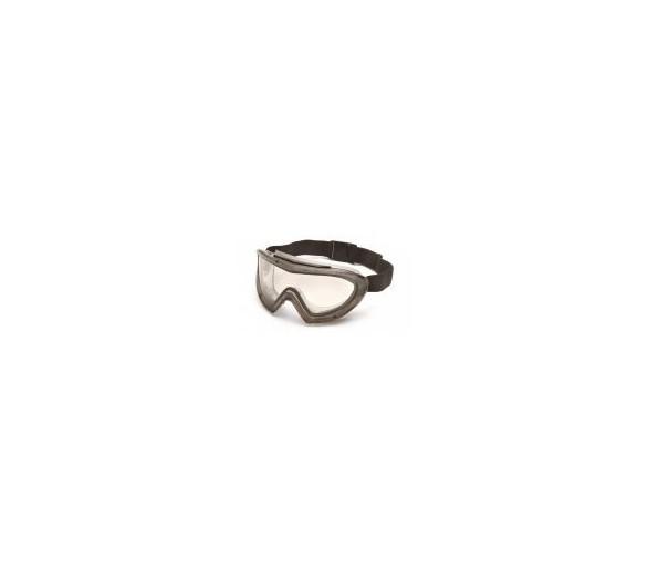 Capstone EGG504T, Schutzbrille, grauer Rahmen, klare Linse, beschlagfrei