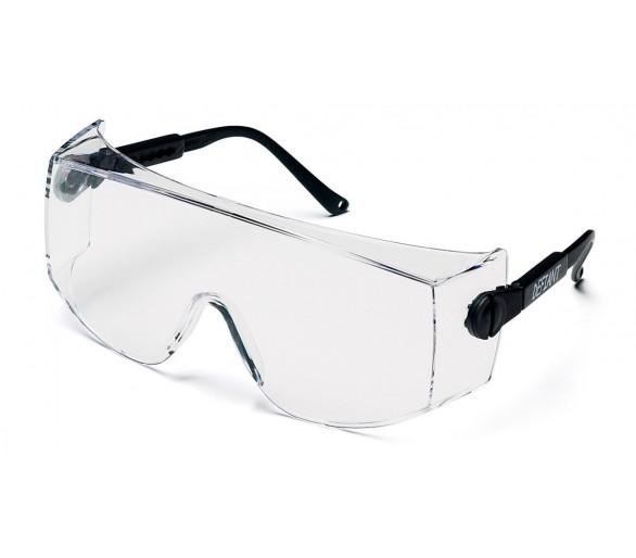 Desafiante ESB1010SJ, gafas, lados negros, transparente