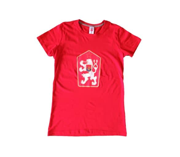 T-shirt Retro Czechoslovakia women's red