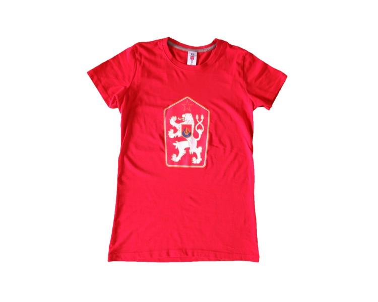 Maglietta Retro Cecoslovacchia rossa