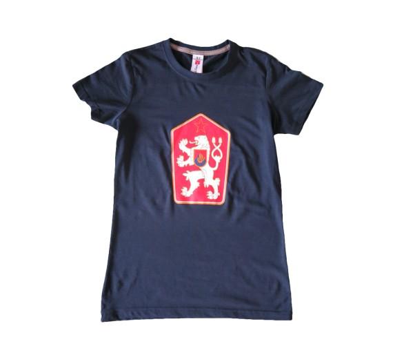 T-shirt Retro Checoslováquia azul