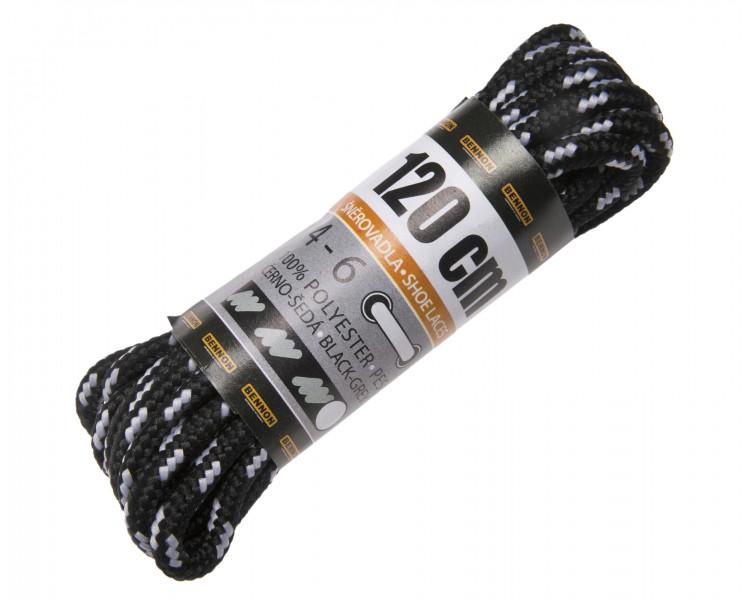 BNN Laces Black-Grey Box 120 cm