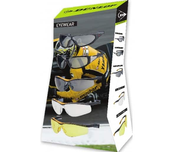 DUNLOP goggles stand for shop