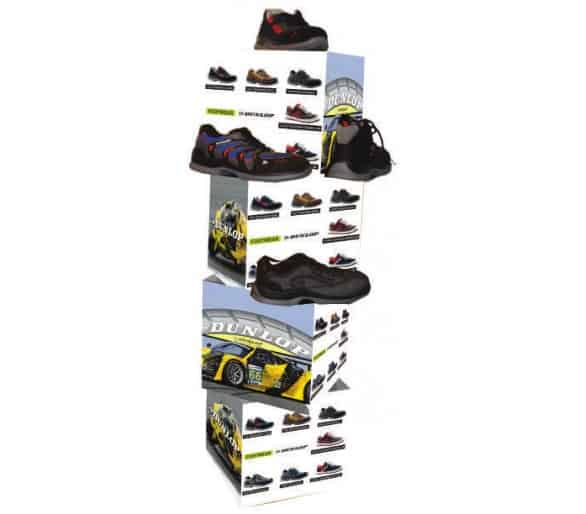 DUNLOP shoe stand for business