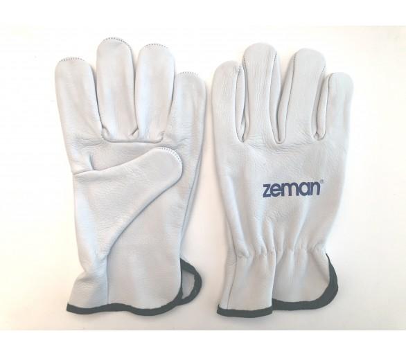 ZEMAN® DRIVER قفازات عمل جلدية كاملة - طبيعي