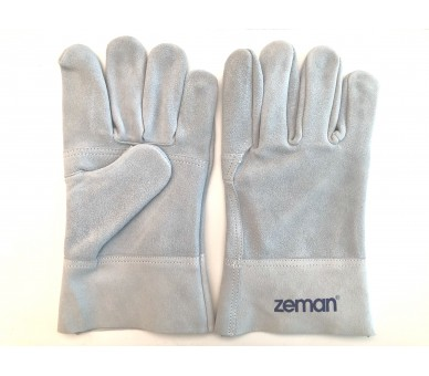 ZEMAN® TIG full leather work gloves with reinforced palm - Natural