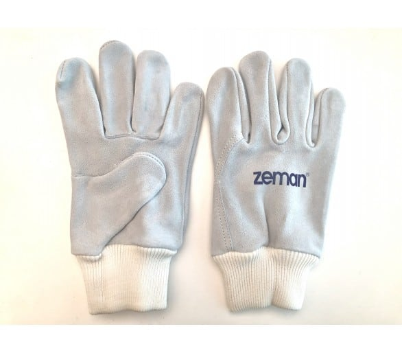 Gants de travail entièrement en cuir ZEMAN® TIG avec poignets tricotés - Naturel