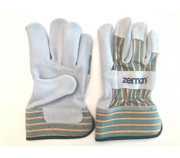 ZEMAN® CANADIAN кожаные рабочие перчатки - Натуральный / Зеленый