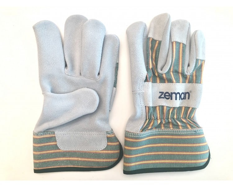 ZEMAN® CANADIAN leather work gloves - Natural / Green