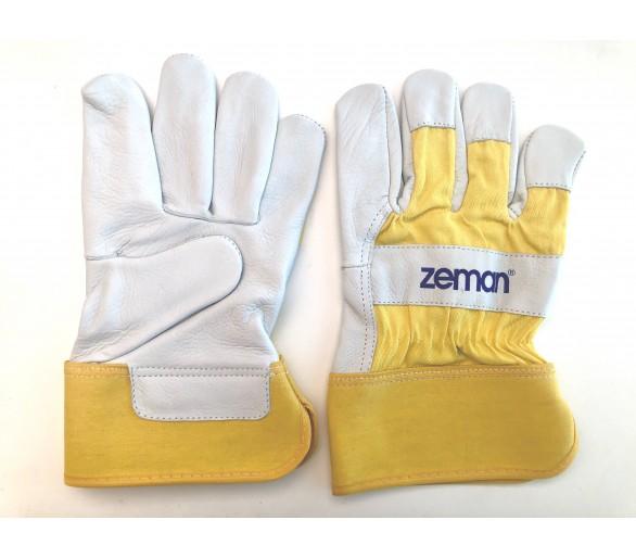 Gants de travail en cuir ZEMAN® CANADIAN - Naturel / Jaune