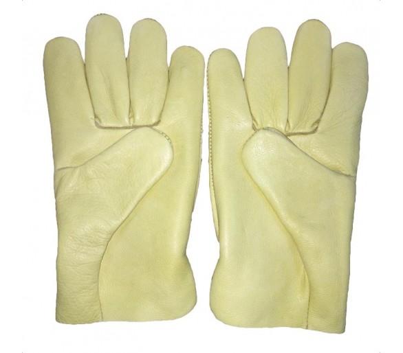 ZEMAN® DRIVER قفازات عمل جلدية كاملة - أصفر