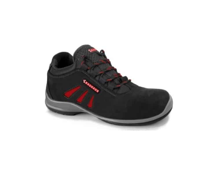 SAFETY BOOTS BLACK-RED S3 BAUHAUS