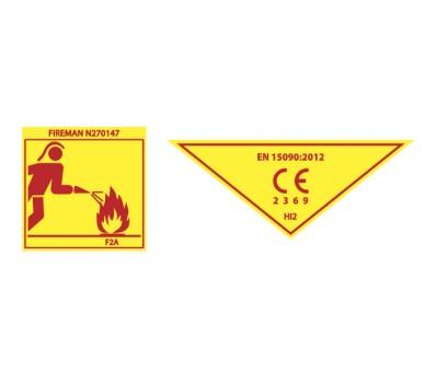 ZNF FIRESTAR A botas de borracha de ação de combate a incêndios