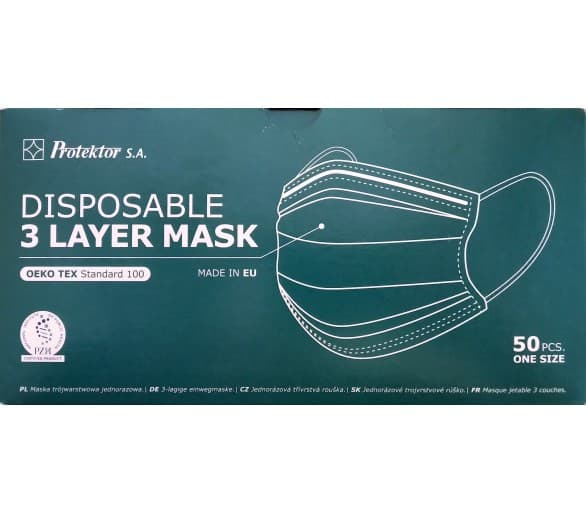 3-layer (50 pieces) disposable face veil