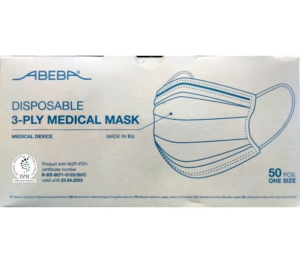 3-layer (50 pieces) disposable medical face veil