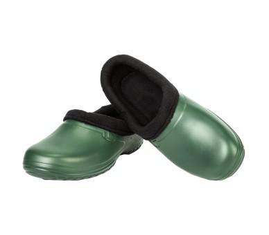 Kolmax EVA CLOG POLAR nazouvák s kožešinou olivově zelený