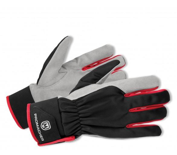 ProM CARPOS VELCRO Handschuhe grau / rot