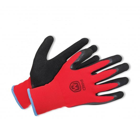 ProM MANOS Handschuhe schwarz / rot