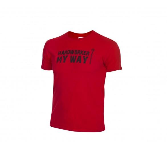 Maglietta ProM HARDWORKER rossa / nera