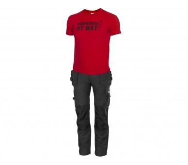 Koszulka ProM HARDWORKER czerwono/czarna