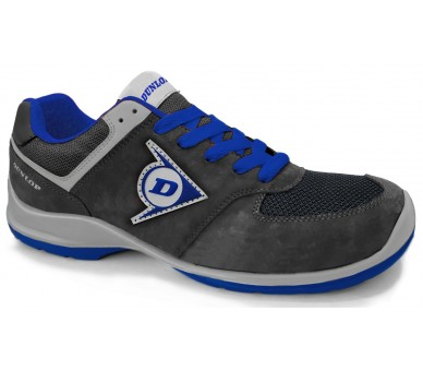 Dunlop FLYING SWORD EVO PU-PU ESD S3 - black and blue work and safety shoes