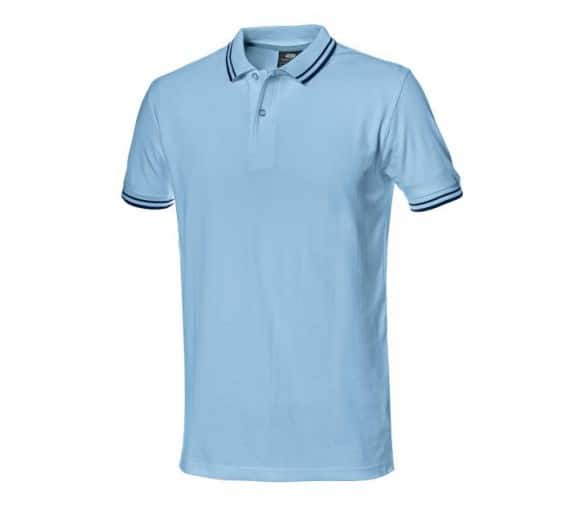 T-shirt roboczy SALSA z błękitnym kołnierzem