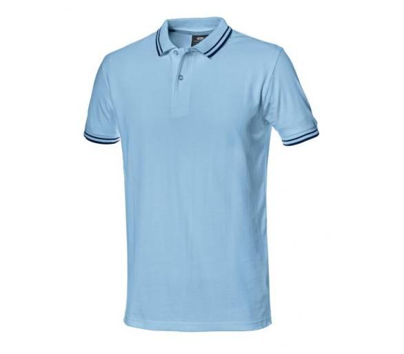 Salsa work shirt with royal blue collar