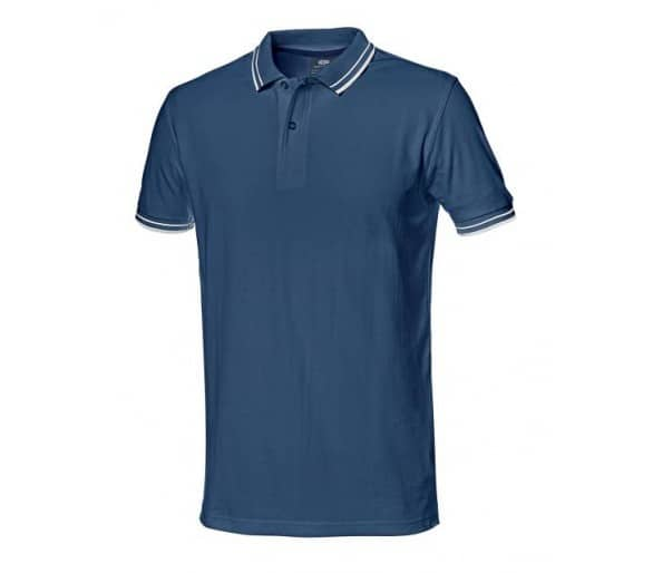 SALSA working shirt with blue collar
