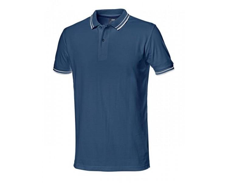 Camisa de trabajo SALSA con cuello azul.