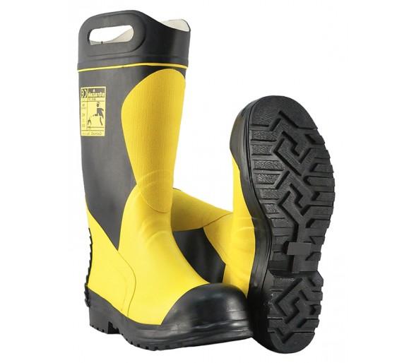 Gumová hasičská a záchranářská gumová obuv FIRESTAR-PL F2I