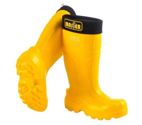 Camminare MASTER Żółte robocze i ochronne buty EVA do -35 ° C