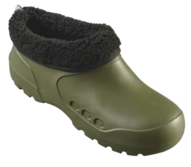 Clog Galosh with Fur Olive