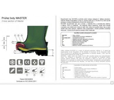 MASTER Yellow -35°C work and safety EVA rubber boots
