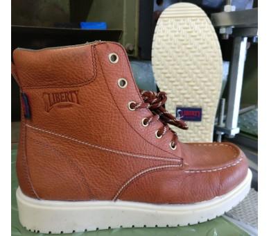 """GARY 6"""" kotníčkové boty - červeno hnědé"""