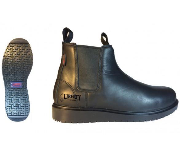 """LARRY 5"""" topánky typ perka - čierné"""