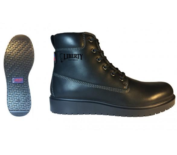 """TERRY 6"""" voděodolné kotníčkové šněrovací boty - černé"""