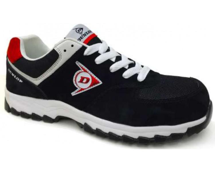 DUNLOP Flying Arrow MRO S3 - أحذية العمل والسلامة الأسود والأحمر