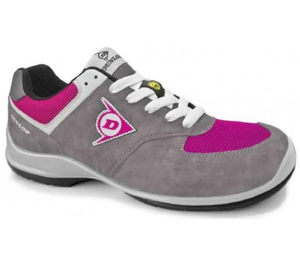 DUNLOP Flying Arrow Lady PU-PU ESD S3 - buty robocze i ochronne szaro-różowe