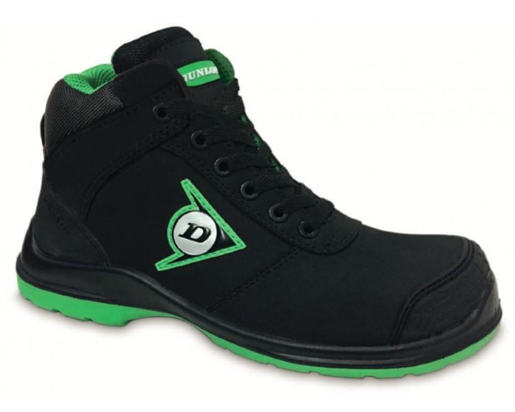 DUNLOP First One Adv High Plus PU-PU S3 - أحذية العمل والسلامة أسود - أخضر