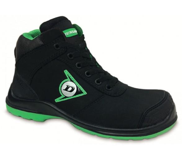 DUNLOP First One Adv High Plus PU-PU S3 - рабочие и защитные ботинки черно-зеленые